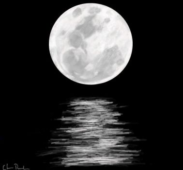 Moon Over Water by mysolublefish
