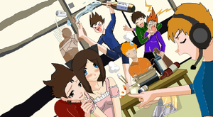 Eddsworld and Pewdiepie party! by Unseen1026