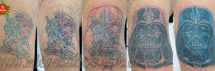 Darth Vader Coverup Step by Step by micaeltattoo