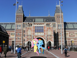 Rainbow Dash and Fluttershy at the Rijksmuseum by laopokia