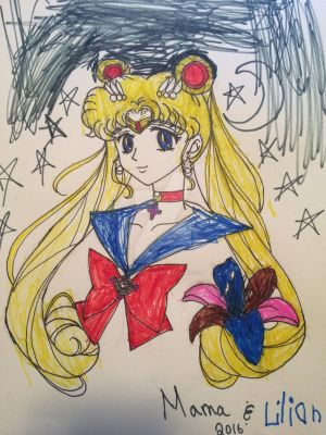 Sailor Moon colored by Lily by ReignitedN7
