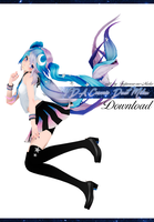 TDA Cosmic Dust Miku 2.0 [Model Download] by Fujiwara-no-Moko