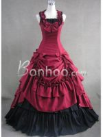 Red and Black Sleeveless Gothic Lolita Dress by lilaliu