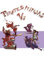 League Pirates Vs Ninjas by pixelsama