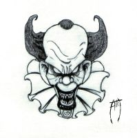 Evil Clown by AzrielMordecai