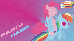 Party Hard - Pinkie Pie and Rainbow Dash Wallpaper by Narflarg