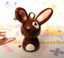 Brown Bunny Charm by mAd-ArIsToCrAt