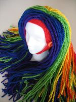 Rainbow Clown Wig by djonesgirlz