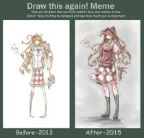 Improvement Meme: 2013-2015 by MissChibiArtist