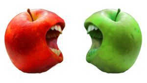 Red apple Green apple by Jhickling