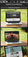 Realistic Screen Mockups by h3design