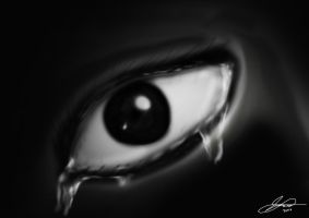 Tears on eye by Flydagger