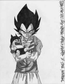 Vegeta and Baby Trunks by LordDiablo006