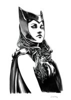 The Scarlet Witch (Sold) by dimitriskoskinas