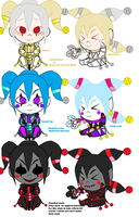 Candy Pop  and Candy cane  Chibi sides by Jesterca