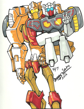 Inktober Day 7: Rewind (and Chromedome) by OmegaSam7890