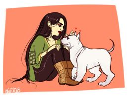 Sansa and Cookie by Naahzda