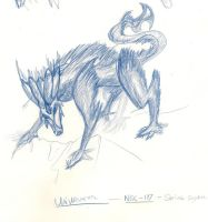 Frost Wolf Creature sketch 2 by JoeCool42