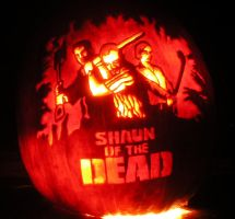 Shaun of the Dead Pumpkin by WispyChipmunk