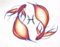 Pisces tattoo by endless-hallway