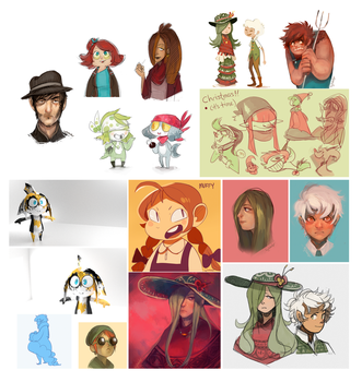 2013 Sketchdump Pt.2 [Color] by Sylladexter