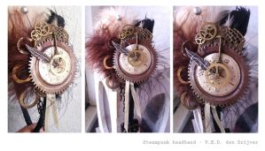 Steampunk headband by LoneSpiritWolf