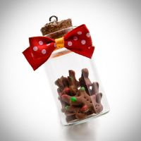 gingerbread men locked in christmas glass by chabersztyna