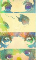 Watercolor Eyes by GreatAboutHeaven