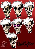 Darkiplier (Expressions) by Rocker2point0