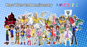 Xros Wars 2nd anniversary Collab by NeoRuki