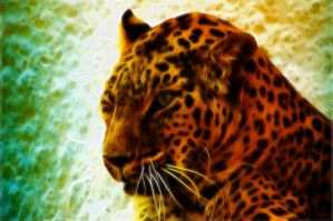 Jaguar 2 Fractal wallpaper. by PimArt