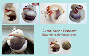 Axtotl Stone Pendant - SOLD by Bittythings