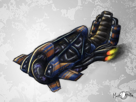 Sci-Fi Hover Bike by Mark-MrHiDE-Patten