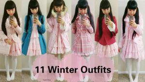 11 Cute Winter Coats Style with One Dress by YumiKing