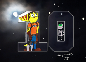 Ratchet and Clank 10th Anniversary Tribute by smega39