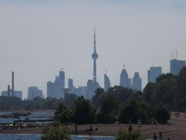 Downtown From A Distance #1 by Neville6000