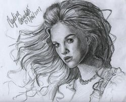 Keira Knightley Graphite by AngelinaBenedetti