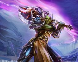WoW TCG: Orc Warrior by AppleSin