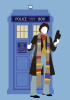 Four and the TARDIS by HaddonArt