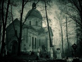 ruined orthodox church by Haszczu