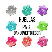HUELLAS-PNG by LoveitBieber