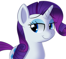 A rarity named rarity by sykobelle