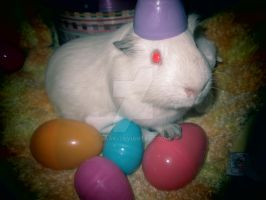THESE BE MAH EGGS. I ARE THE EASTER PIG - Falcor by Esaki
