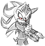 CM: Shadow cosplaying as Death the Kid by shadowhatesomochao