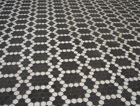 Dark Tile Floor Pattern by FantasyStock
