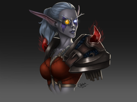WoW Cely bust by CoffehMeh