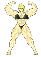 Request - Samus Aran Bulked by Pandatarius