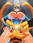 R.Mika and Pikachu Libre by ss2sonic