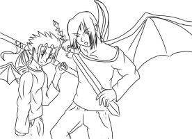 Demon Brothers outline by superjacqui