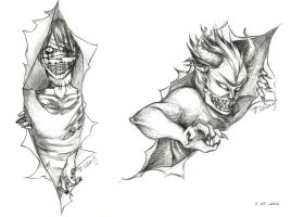 Sketches - Monsters are Coming by saru-chikin
